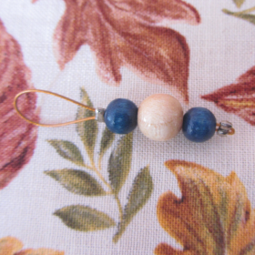 Wooden stitch markers ABA