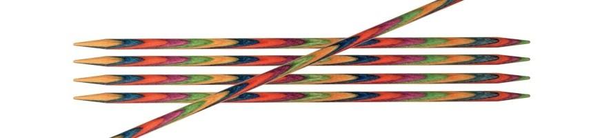 Agujas de doble punta Symfonie Wood de 10 cm