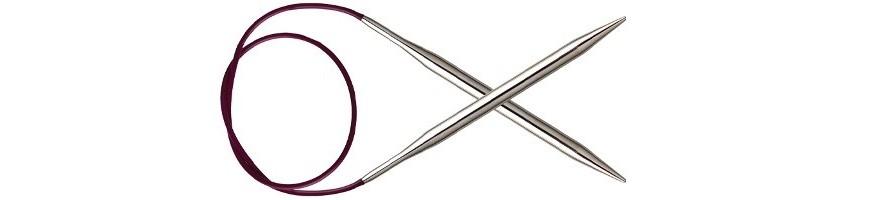 80 cm - Nova Metal Fixierte Rundstricknadeln