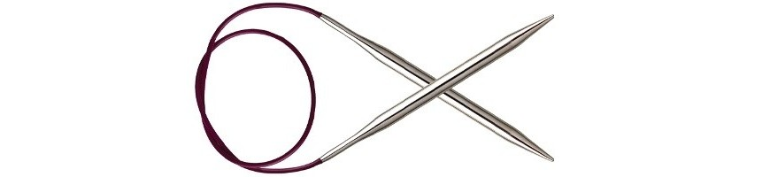 25 cm - Agulles circulars fixes Nova Metal