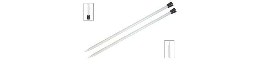 40 cm - Agulles rectes Basix Aluminium